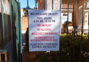 Pool Signs Aurora Canyon