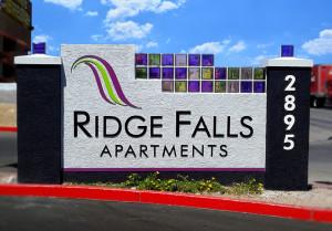 Ridge Falls Monument Complete